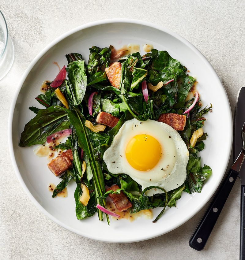Winter Greens and Pork Belly Salad
