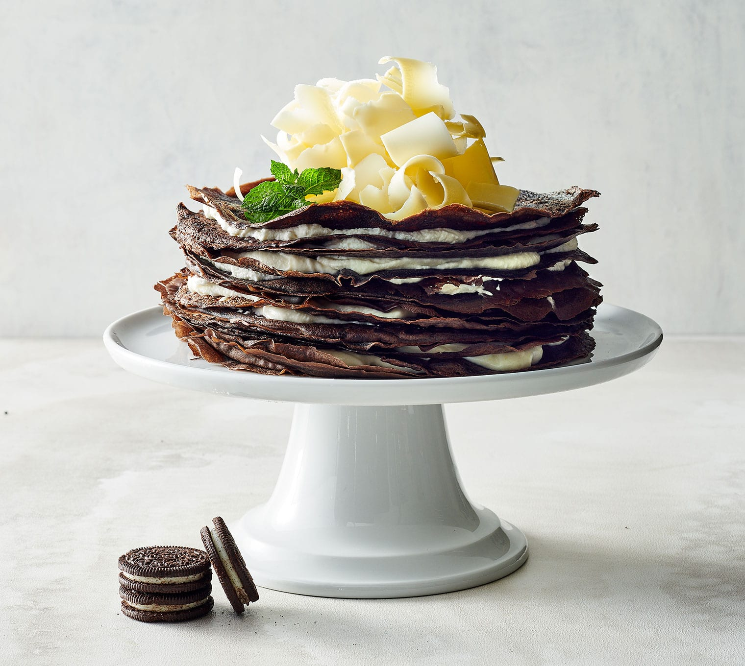 Oreo Cookie Crepe Cake Sysco Foodie