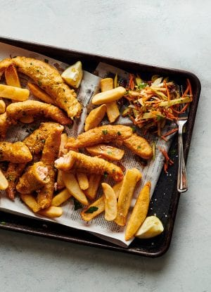 Salmon Fish and Chips