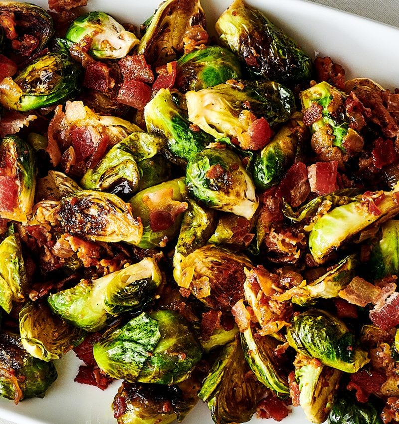 Brussels Sprouts With Bacon Marmalade