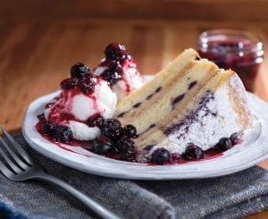 Wild Blueberry Flapjack Cake