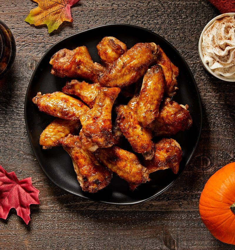 Pumpkin Spice Chicken Wings