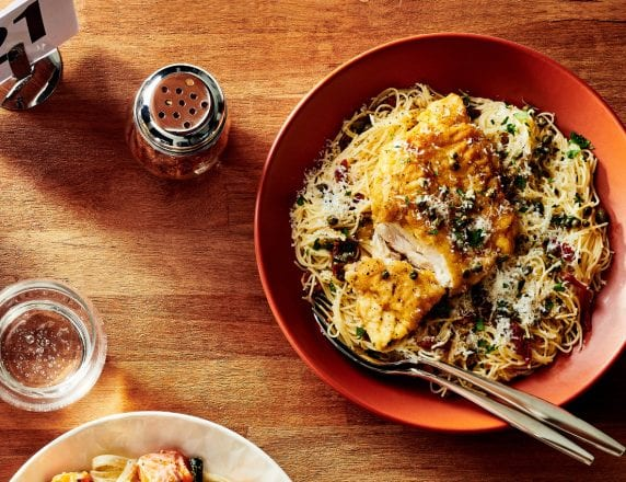 Snapper Piccata With Sun-dried tomatoes and capers