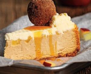 Caramel Apple Cheesecake With Cinnamon-Sugar Donuts