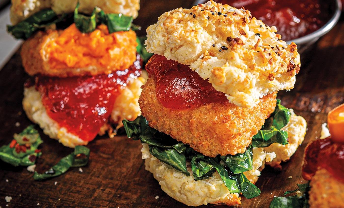Mini Pimento Cheese Biscuit Sandwiches