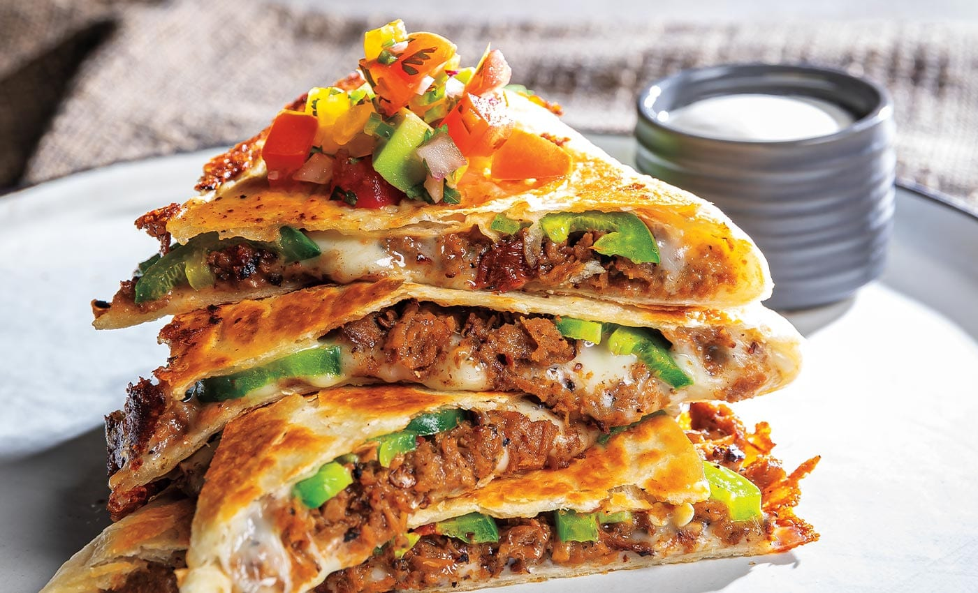Vegetarian Barbacoa Quesadilla