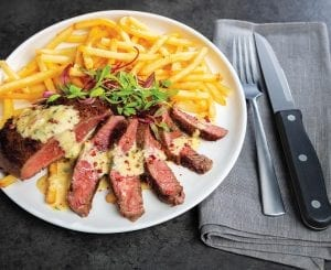 Steak Frites With Pink Peppercorn Bearnaise