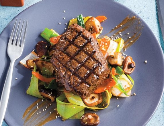 Grilled Tamari Butter Sirloin Steak
