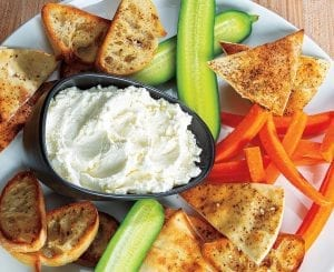 Spreadable Feta Cheese and Crostini