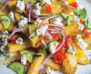 Loaded Feta-Fattoush Fries