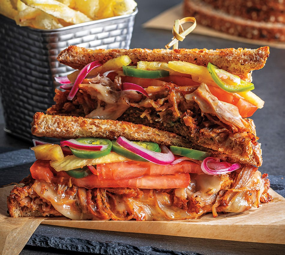Al Pastor-Style Pulled Pork and Pepper Jack Melt