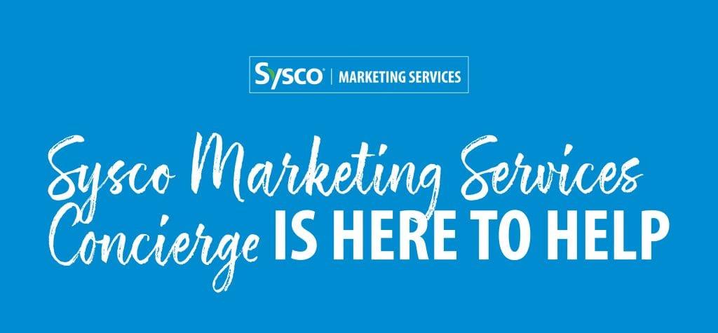 Sysco Marketing Services Concierge banner