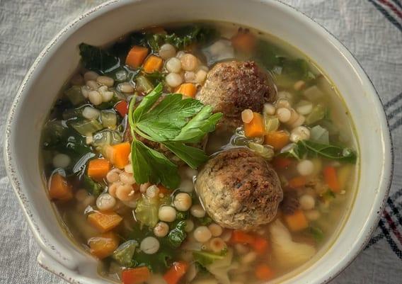 Plant based italian wedding soup, Sysco Simply