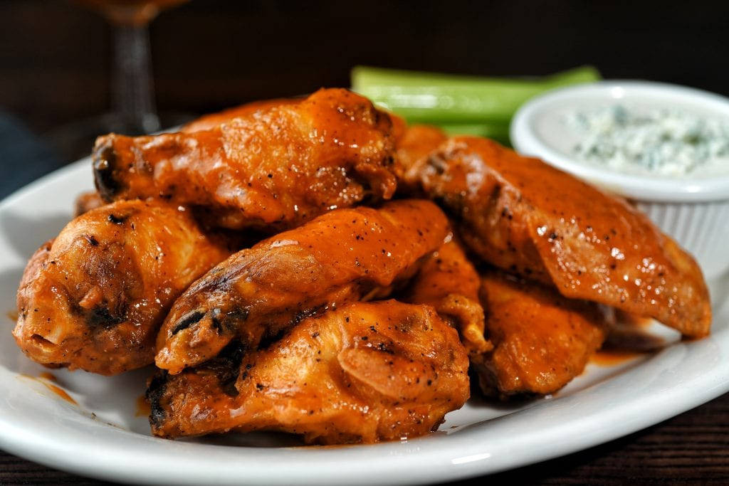 Chicken wings from Nick & Jake's restaurant