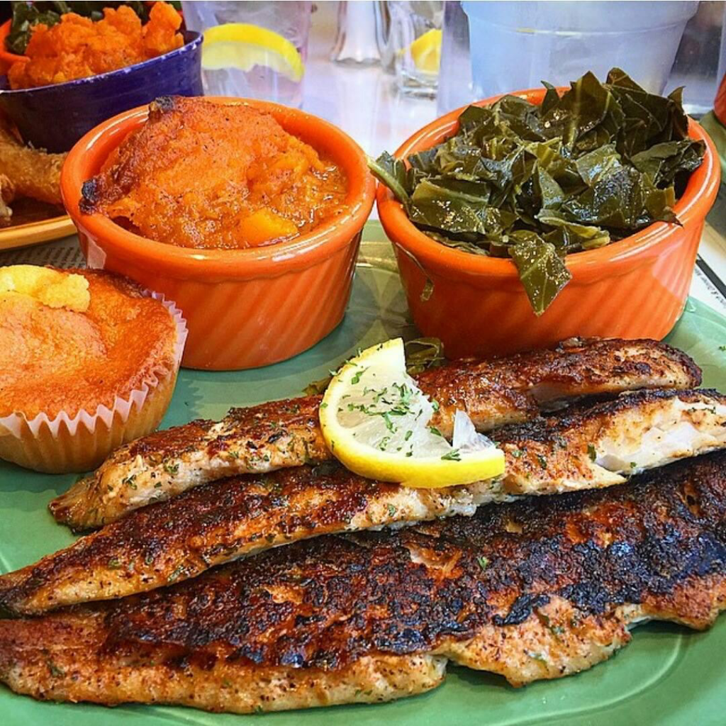 Catfish meal from Mama J's