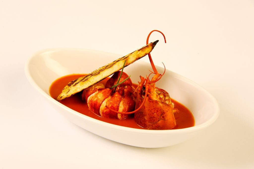 Lobster dish created by Chef Teipen