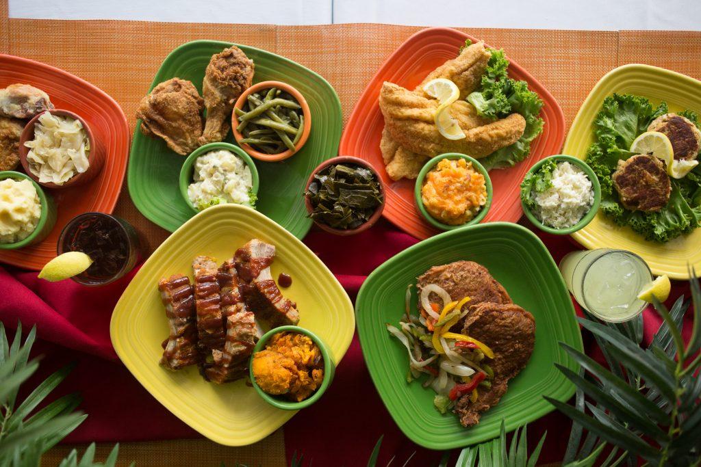 Mama J's food plates