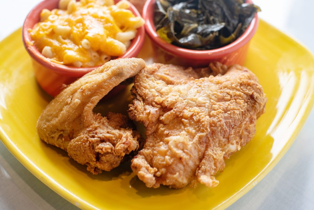 fried chicken and mac and cheese - Mama J's
