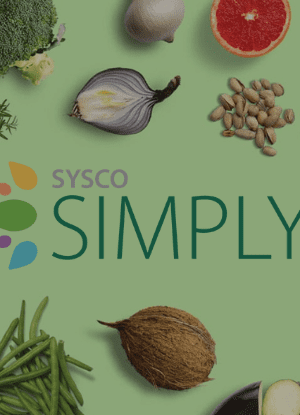 Sysco Simply plant based dining products square banner
