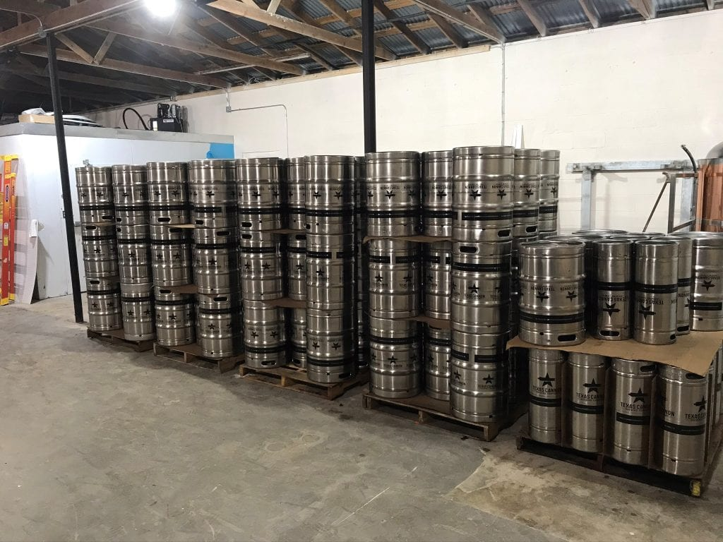 Beer Kegs at Texas Cannon Brewing Company