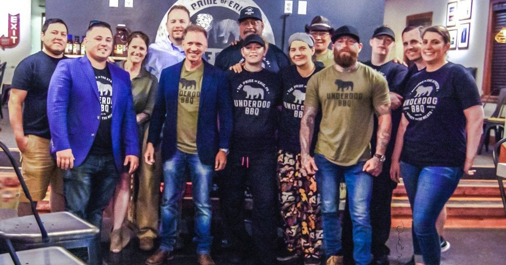 Glenn Stears and the Underdog BBQ crew