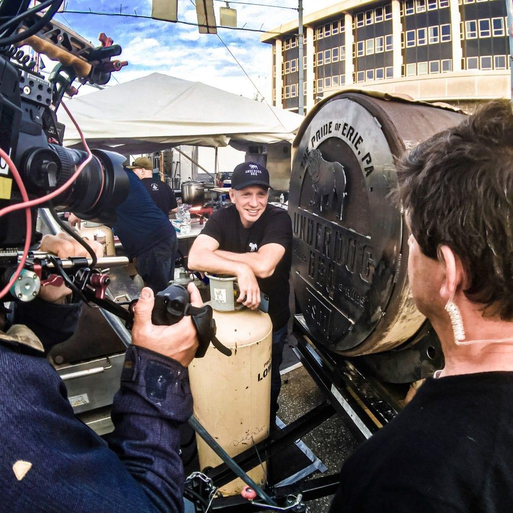 Glenn Stears at a photoshoot for Underdog BBQ