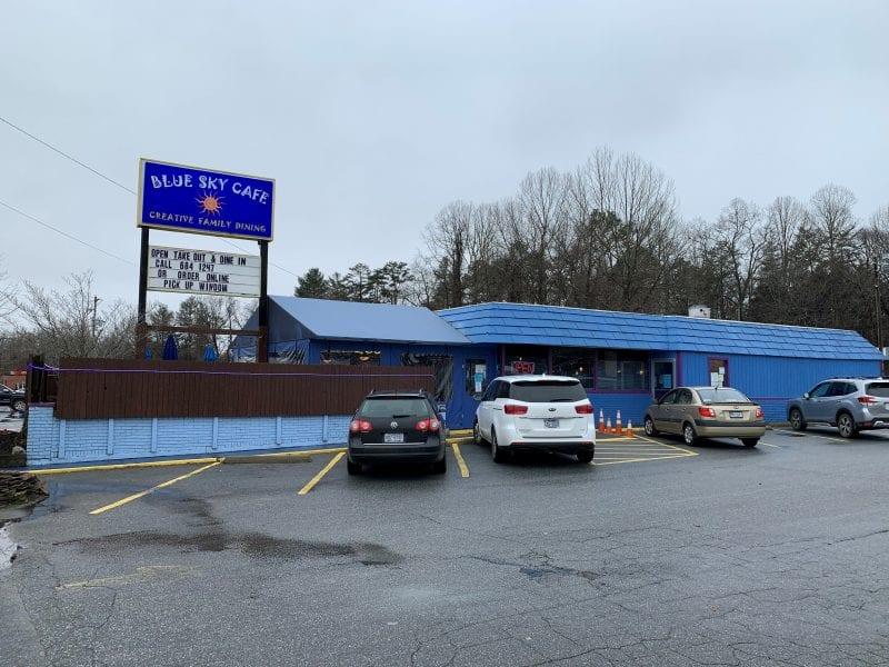 Blue Sky Cafe restaurant front