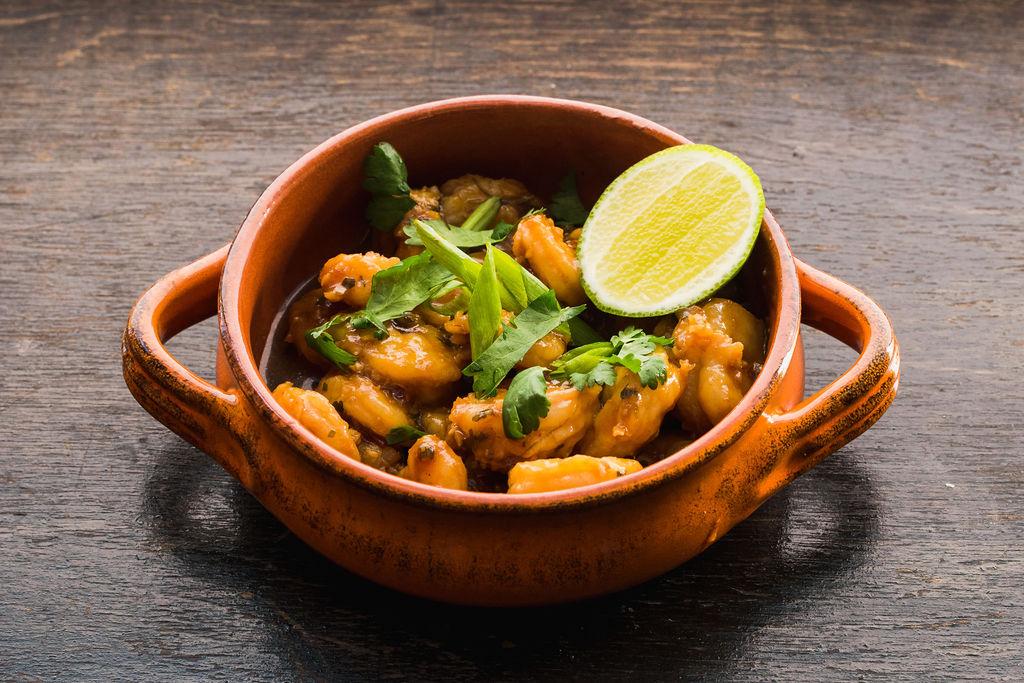 Chili Garlic Shrimp - Never Blue
