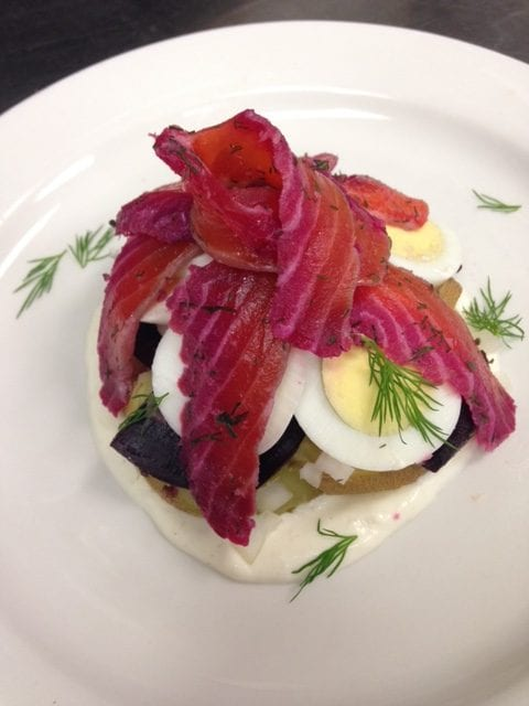 Appetizer dish created by Chef Abby McBride - Letty Owings Center