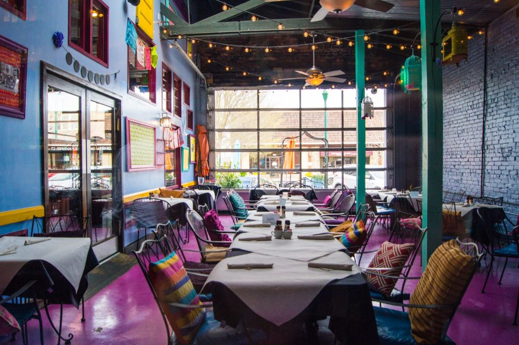 Never Blue Restaurant Dining Room