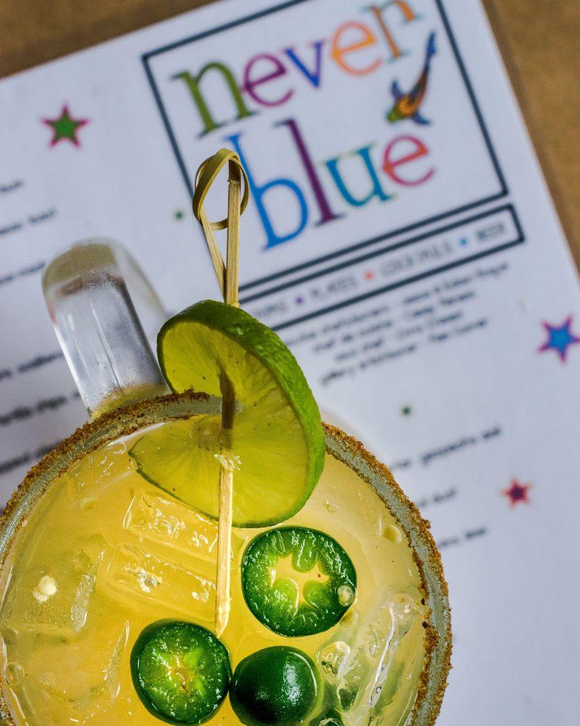 El Diablo Margarita from Never Blue restaurant