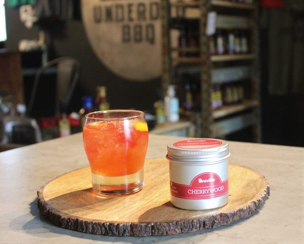 Cocktail drink from Underdog BBQ