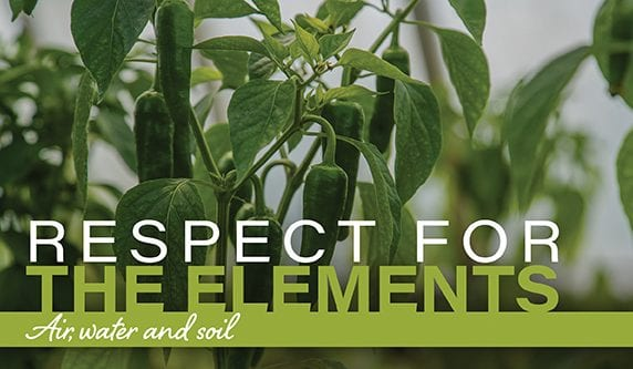 Sysco's Sustainable Agriculture Program protects the air, water and soil.