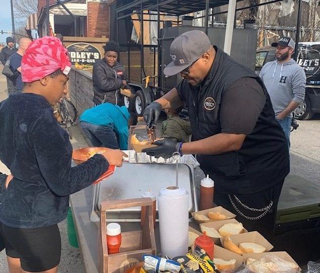 Pitmaster UT Cravin serving community post tornado - Edley's BBQ