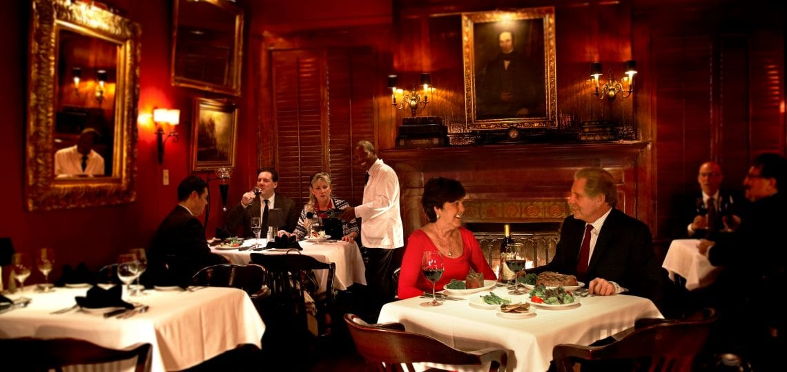 Jimmy Kelly's Steakhouse dining room