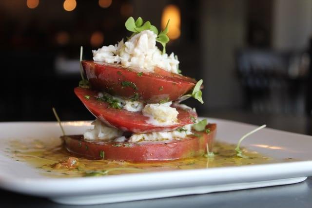 Tomato salad appetizer - Five Senses restaurant