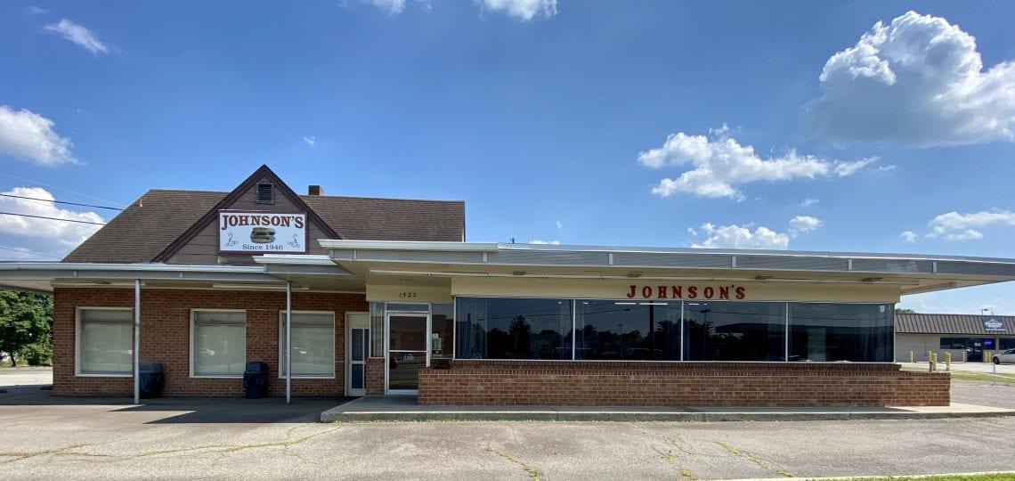 Johnson's Drive-In restaurant entrance