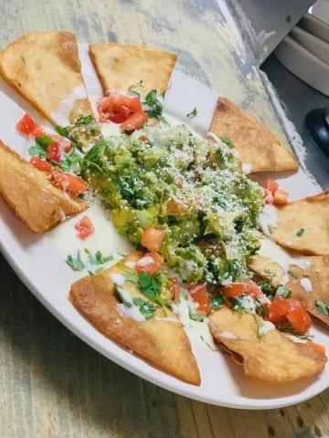 Guacamole dips appetizer at Taqueria Melecios