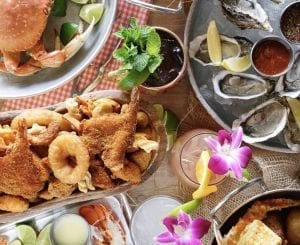 Seafood plates and dishes from Crab Hut